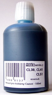 100ml azurový inkoust do tiskárny Canon PIXMA MP460